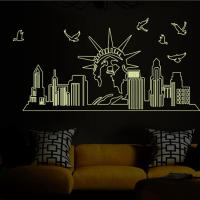 Glow In The Dark Statue Of Liberty Wall Stickers Decal ...