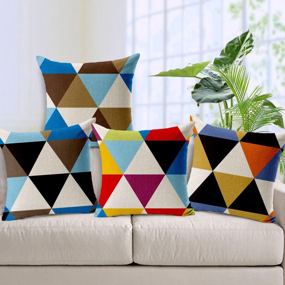 fundas para sofa en peru sleeper replacement foam mattress creative patchwork design de cojines modern abstract pillow cover car seat decoration geometric cushion outdoor pillows on sale