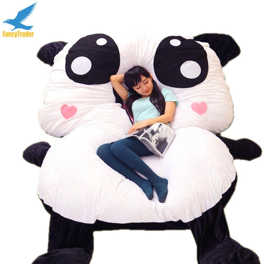 panda bean bag chair macys leather 2018 fancytrader cartoon giant beanbag soft stuffed bed carpet sofa tatami mattress ...