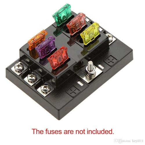 small resolution of 2018 universal 6 way circuit car fuse box holder 32v dc waterproof blade fuse holder block