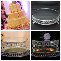 Luxurious Mirror Cake Stands & Plate For Wedding Birthday ...