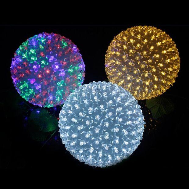 led balls of light led christmas light balls