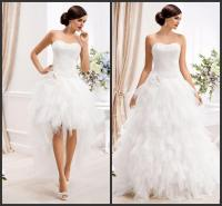 2015 Two In One Wedding Dresses With Detachable Skirt