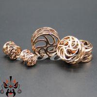 2018 Hot Sale Copper Piercing Gauges Rose Gold Ear Plugs ...
