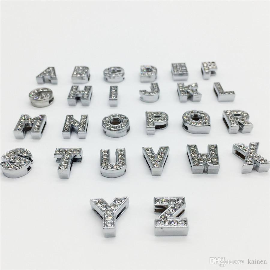 Online Cheap Hot 8mm Full Rhinestones Slide Letters A Z