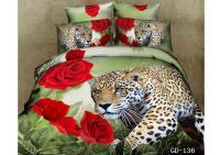 3d Red Rose Leopard Print Bedding Sets Super King Size ...