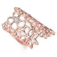 Knuckle Midi Large Long Finger Ring Hollow Filigree