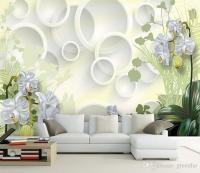 Elegant Wall Mural Large Wallpaper Interior Art Decoration ...