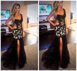 Black with Leg Slit Prom Dresses