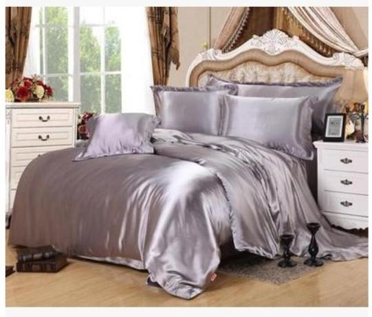 Silver Bedding Sets Super King Size Queen Full Twin Grey
