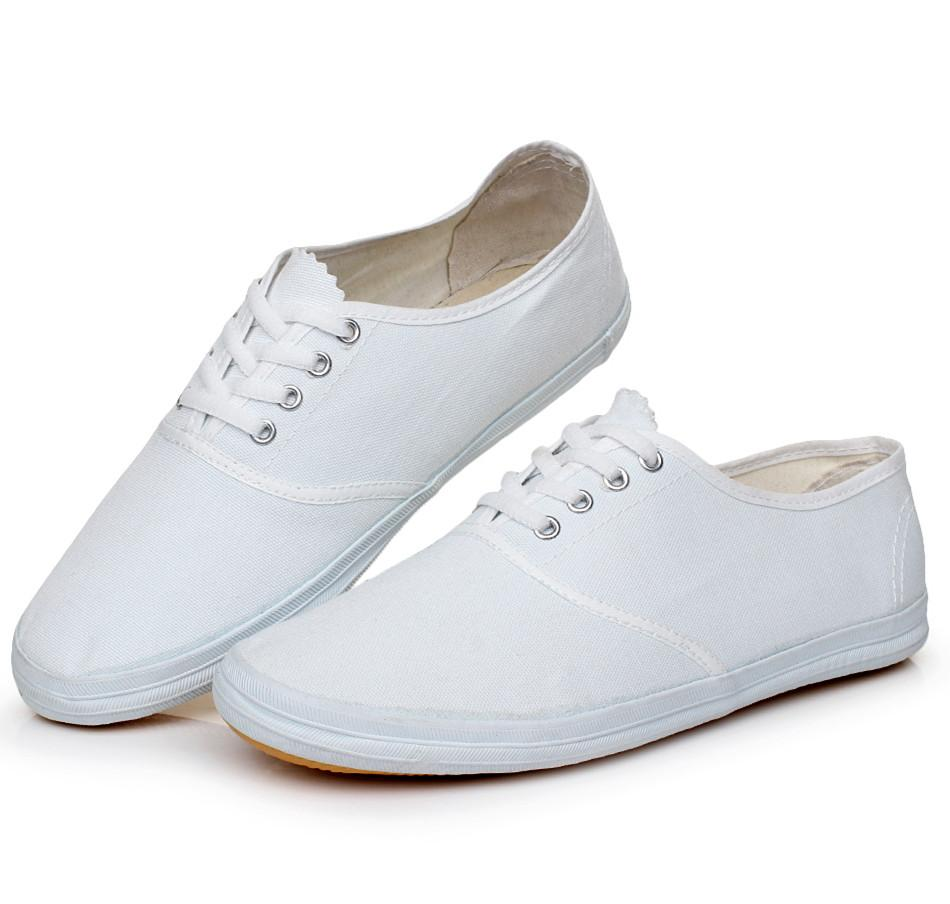 White Canvas Slip On Shoes Wholesale