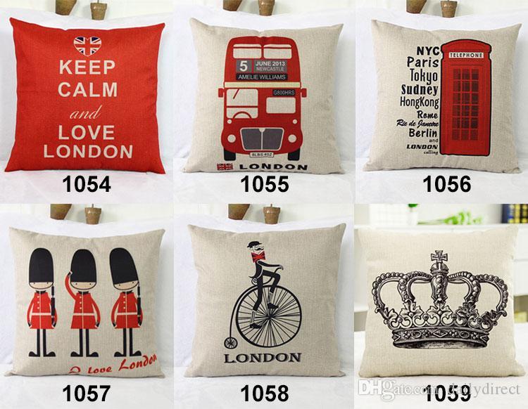 chair cover rental london nursery kinds vintage pillow case car composite linen cushion fashion style 16 5x16 5inch 42x42cm drop shipping