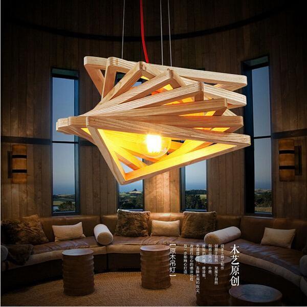 ceiling light fixtures for living room used set novelty modern handmade wood pendant lights bar restaurant dining home lamp fixture lighting led craft lig