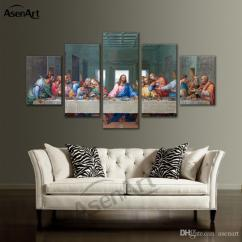 Framed Wall Art For Living Room Black And Gold 2019 Large Canvas Christian The Last Supper Jesus Print Painting Bedroom Home Decoration Dropshipping From Asenart