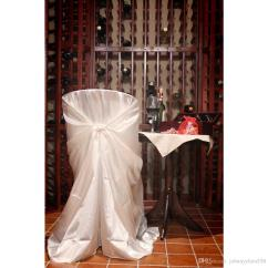Chair Covers Wedding Costs Back Support For Hot Sale Bag Self Tie Satin Cover Universal