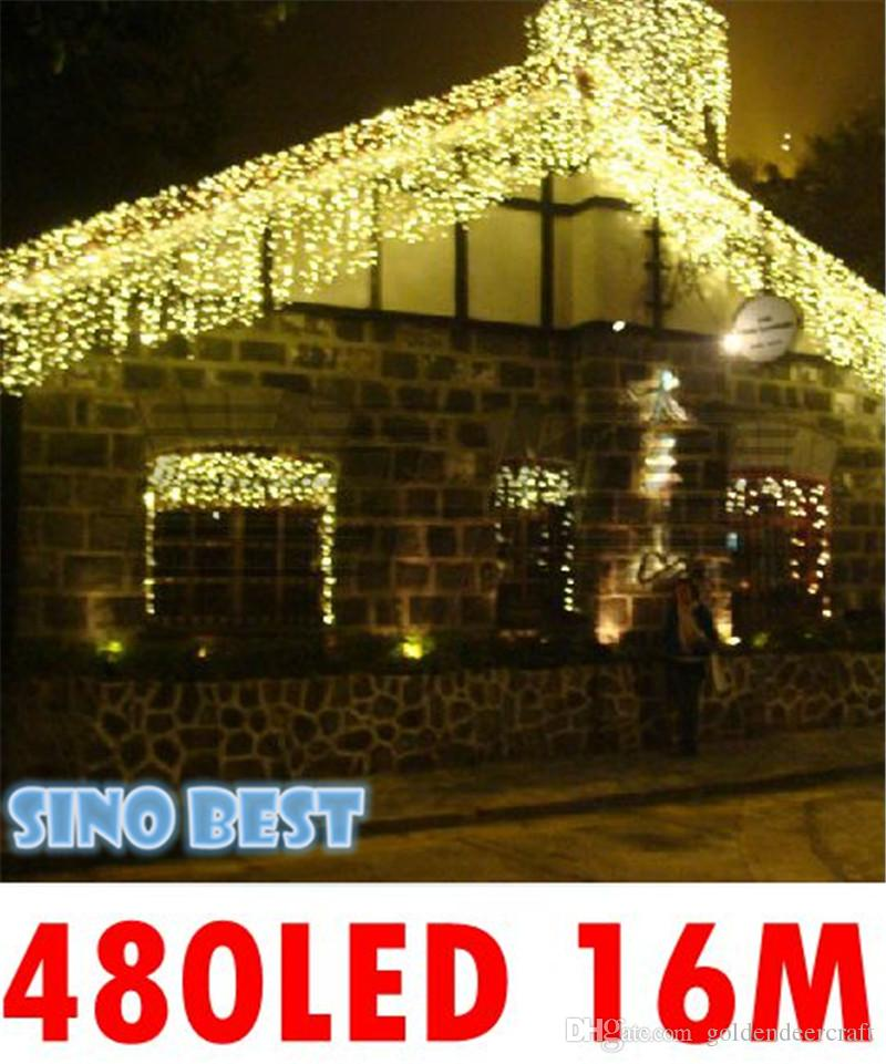 Led christmas icicle lights outdoor for Quality outdoor christmas decorations