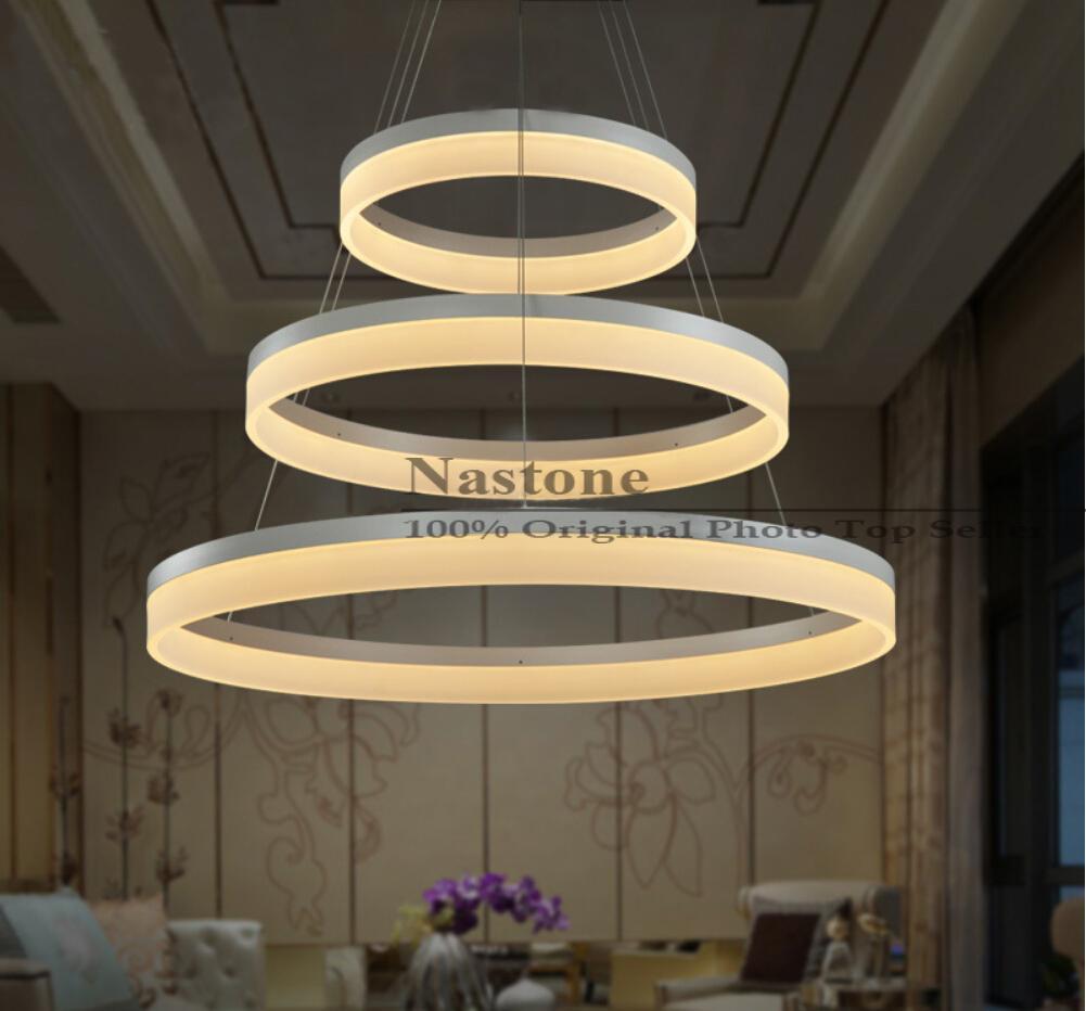 1 Ring 2 Ring 3 Rings Circles Modern Led Pendant Lights