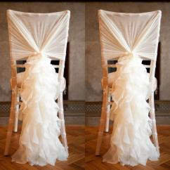 Ivory Chair Covers With Gold Sash Gym Twister Chiffon Ruffles Sashes 2015 Best Selling Wedding