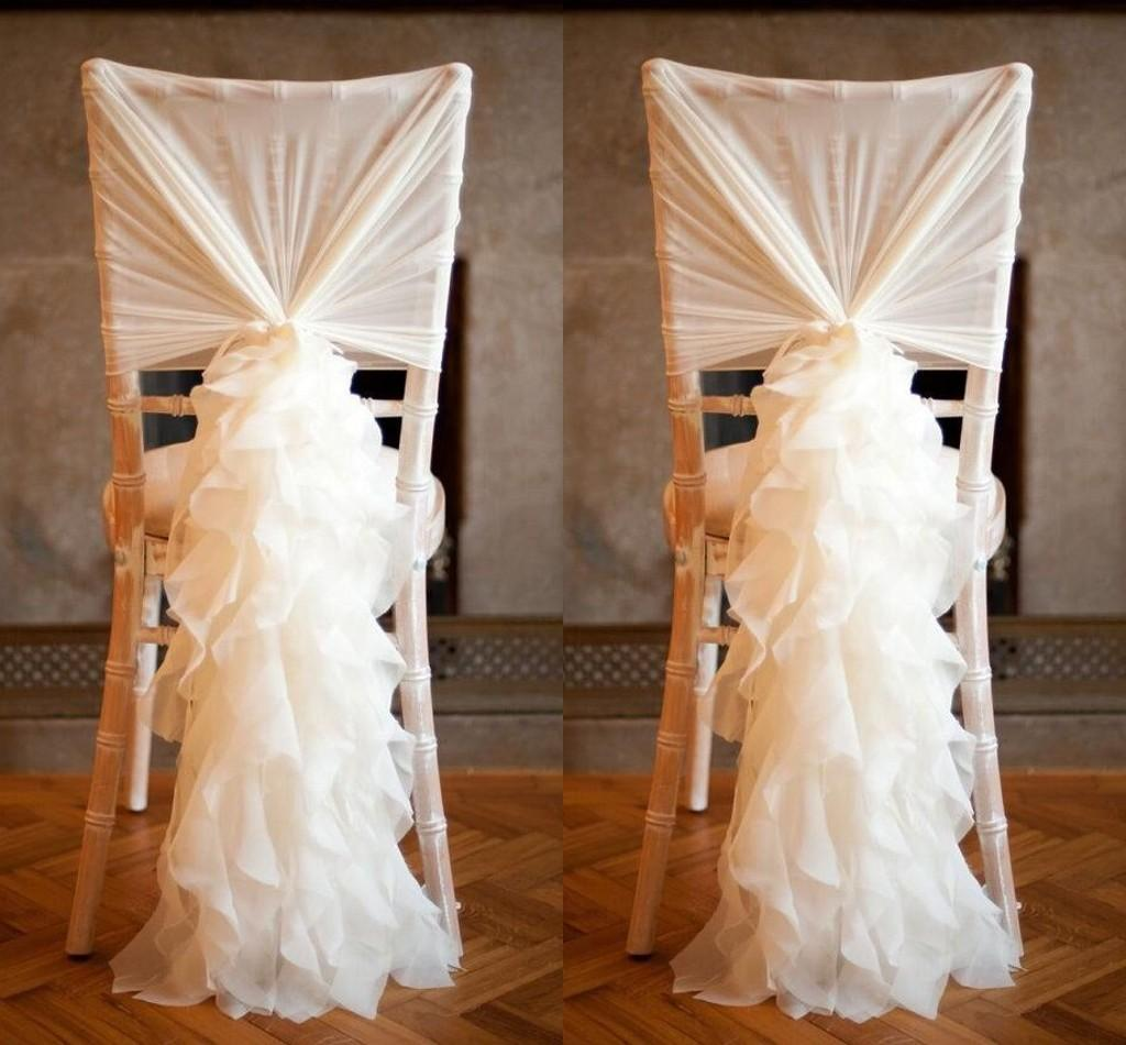 chair covers wedding manchester throne rental los angeles chiffon ruffles sashes 2015 best selling