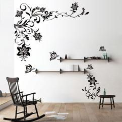 Wall Stickers Living Room Cosy Ideas Brown Sofa Butterfly Vine Flower Decals Vinyl Art Mural Decor Alphabet Appliques For Walls From Ybf662 48 95 Dhgate Com