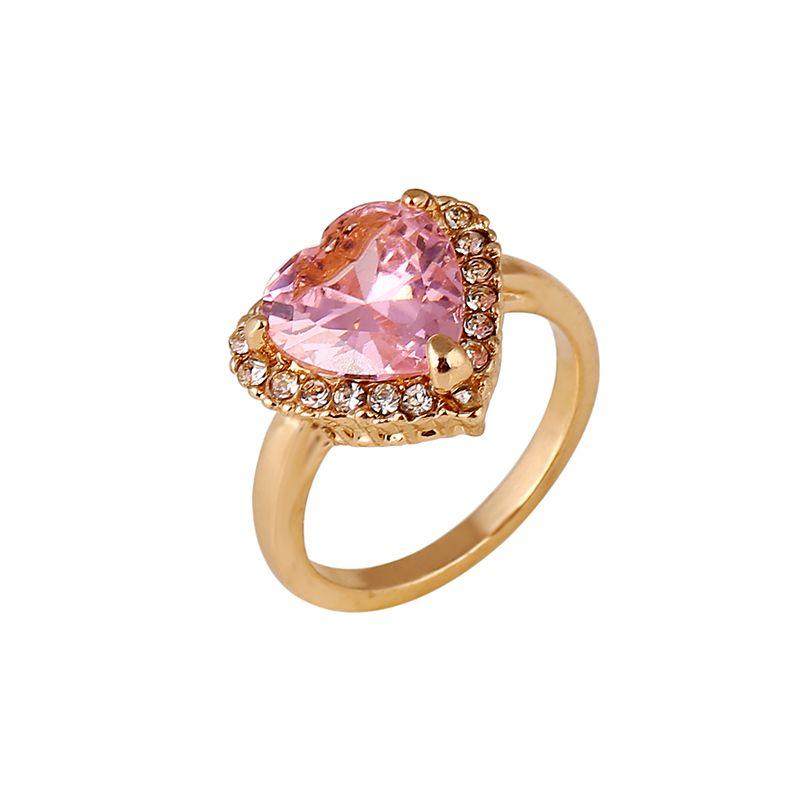 2017 Heart Shape Unique Wedding Rings Cheap Rose Gold