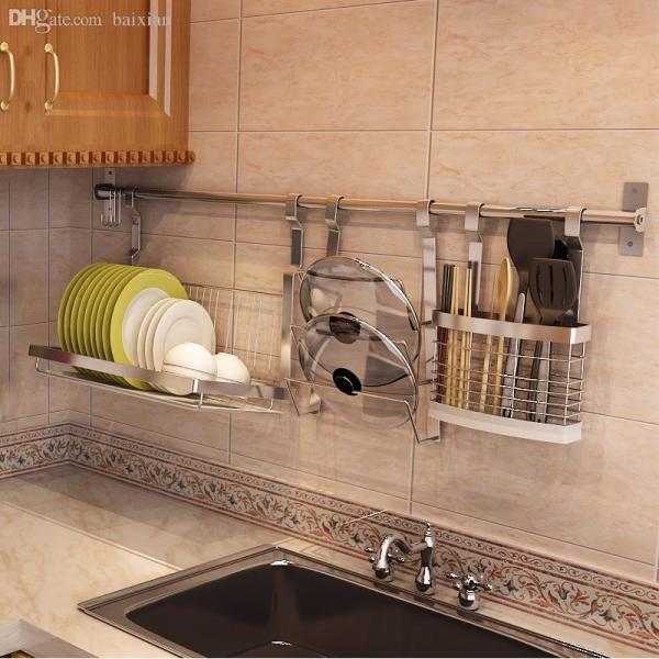 Stainless Steel Kitchen Wall Plate Rack