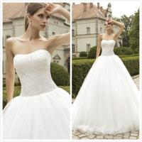 2016 Vintage Fluffy Wedding Dresses Strapless Tulle Ball