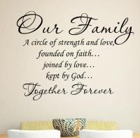 Our Family Together Forever Decorative Wall Decal Quotes ...