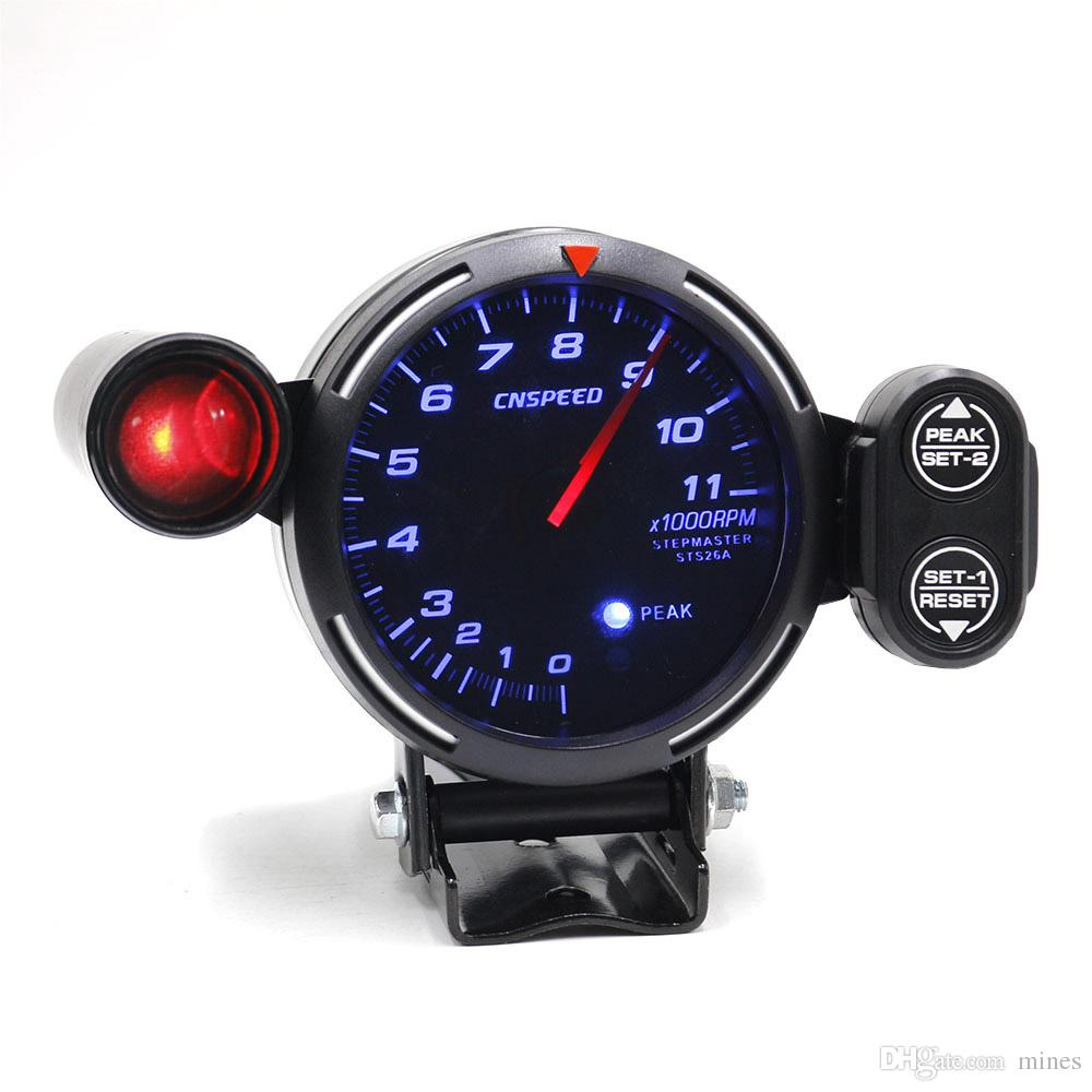 medium resolution of 2019 cnspeed 80mm rpm tachometer racing meter auto gauge with light red car speedometer autometer from mines 25 13 dhgate com