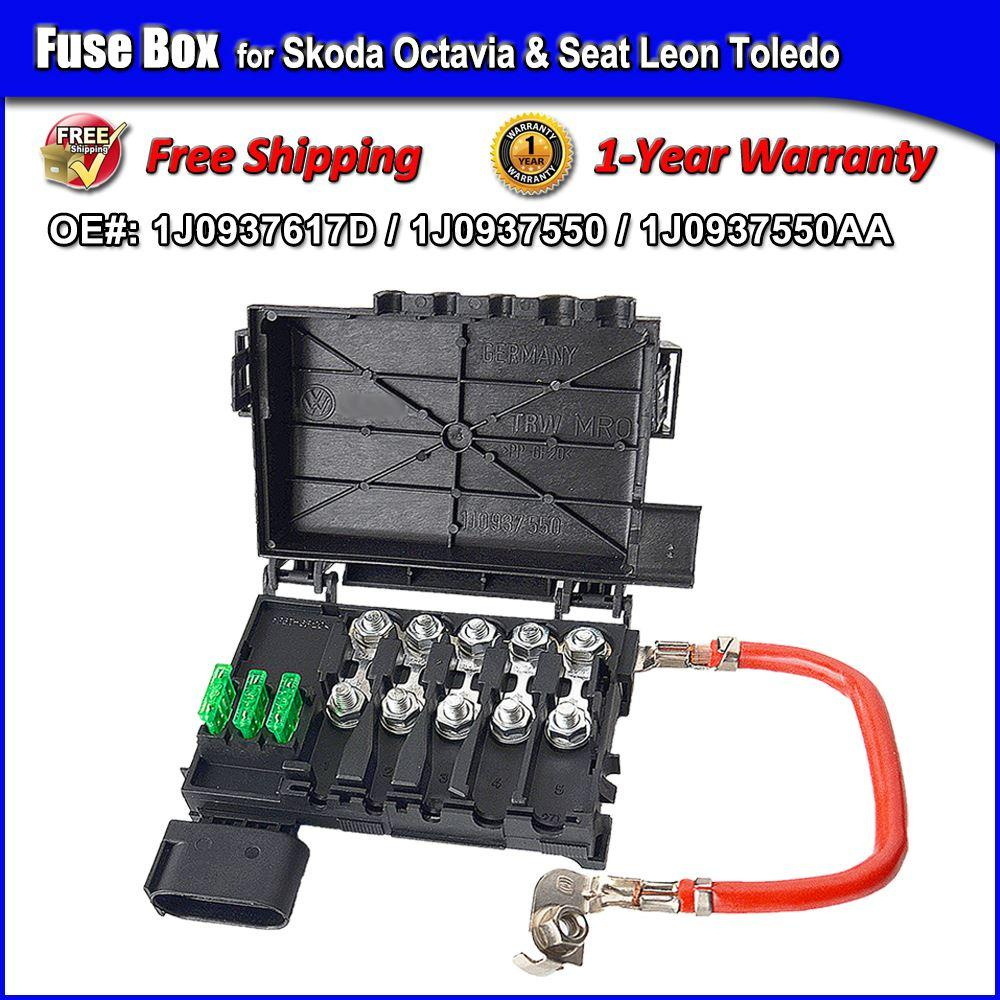 medium resolution of 1 year warranty fuse box for seat leon toledo skoda octavia 2 fuse