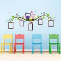 Owl Tree Branch Photo Frames Wall Decal Removable Wall