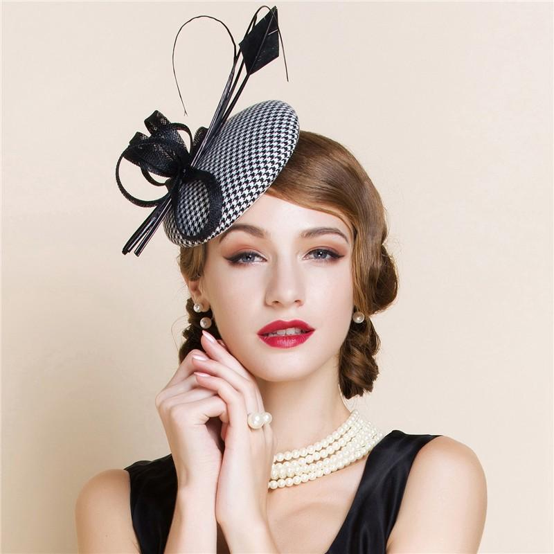 2015 Occasion Hats For Women Ladies Hat Feather Flower For