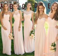2016 Pink Navy Cheap Long Bridesmaid Dresses Mixed ...