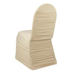 Cheap Chair Cover Rentals Dining Table Chairs Set Of 6 Wholesale Ivory Ruched Lycra For Wedding Party