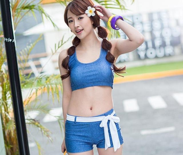 Korean Sexy Split Two Piece Swimsuit Womens Sports Swimsuit Models Swimsuit Spa From Shi Dhgate Com