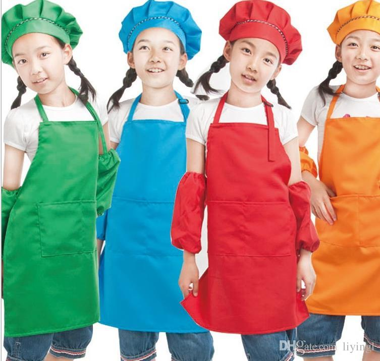 kitchen apron for kids pendant lighting plain children solid aprons with pockets chef cheap sexy christmas best adult waterproof