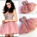 Dusty Pink Short Homecoming Dresses Sweetheart Crystal