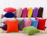 New Solid Colored Pillow Cushion Covers Case Fashion ...