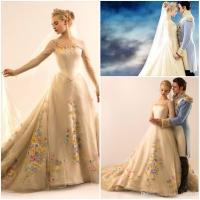 Discount 2015 Wedding Dress Lily James Cinderella Wedding
