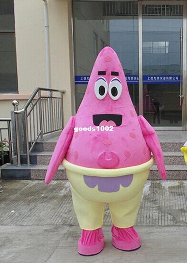 Patrick Star Mascot Costume Fancy Dress