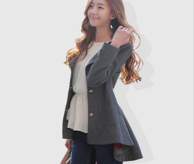 2019 Hot Sale 2015 Winter Coats For Women Korean Long Sleeved Solid Button Dovetail Wool Coat Outerwear Winter Womens Coats For Winter From Cnaonist