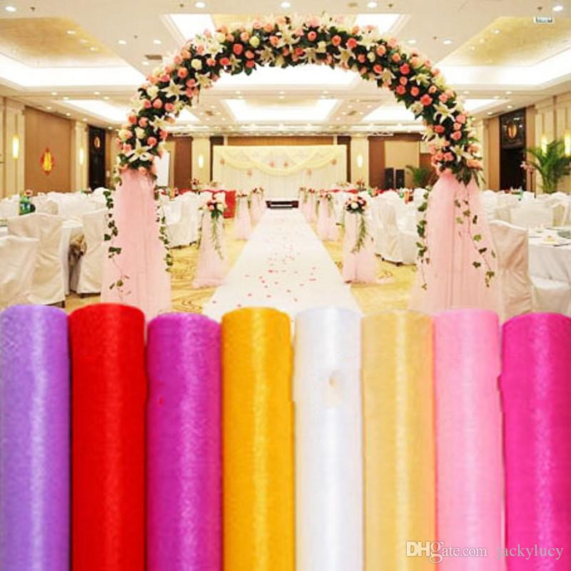function accessories chair covers dining table chairs only 2019 fashion ribbon roll organza tulle yarn for wedding backdrop curtain decorations supplies 50m from jackylucy