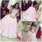 Pink Pnina Tornai Wedding Dresses 2015 Princess Ball Gown