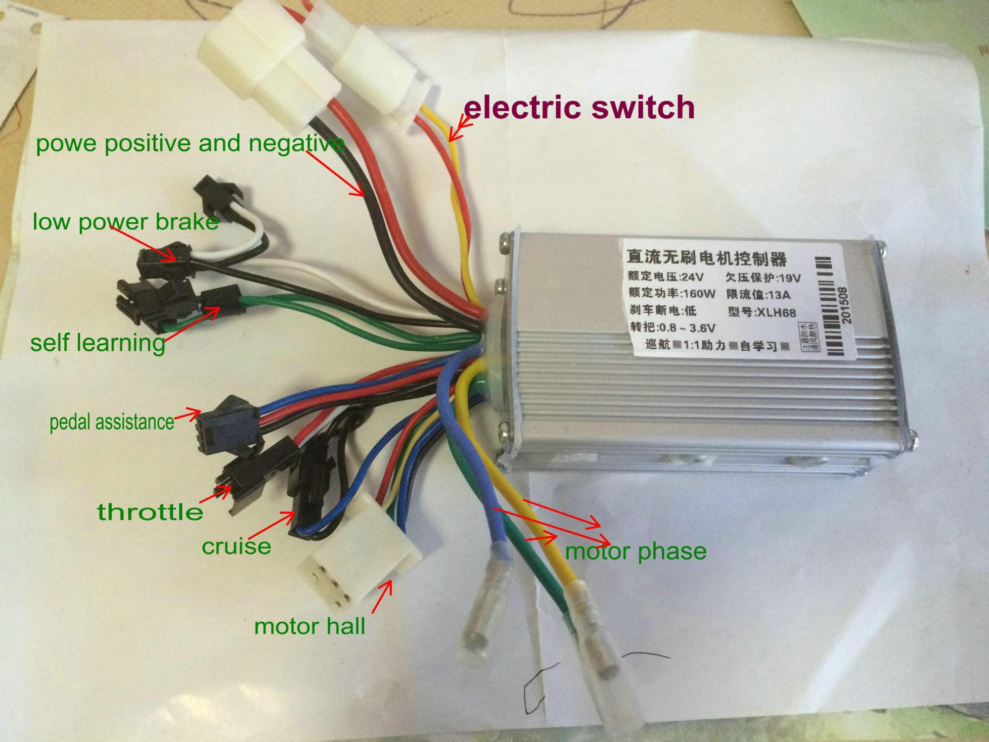 hight resolution of 2018 24v36v48v 250w350w bldc motor speed controller 6 mosfet dual mode electric bike mtb tricycle scooter