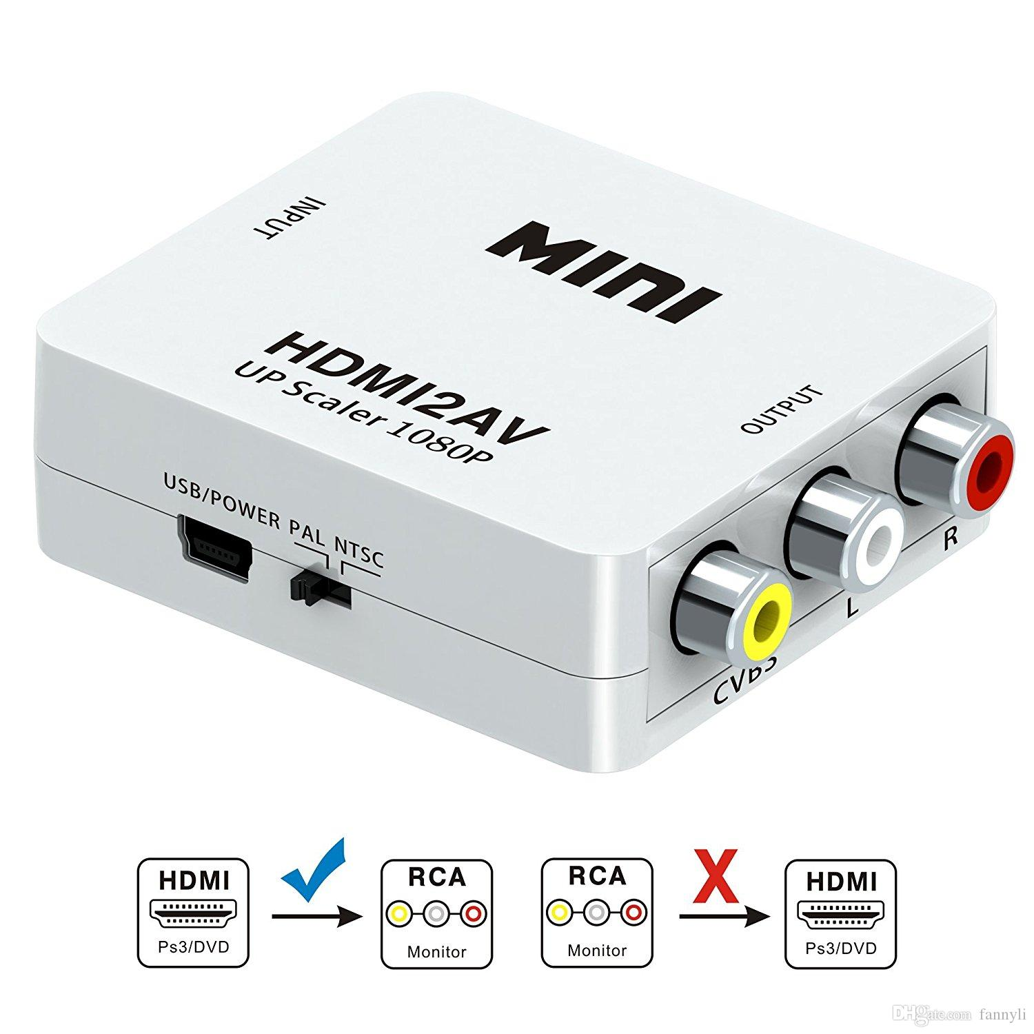 hight resolution of hdmi to av converter box hd to av cvsb video hdmi to vga adapter hdmi2av support ntsc and pal output vga to hdmi adapter with audio vga to hdmi adapters