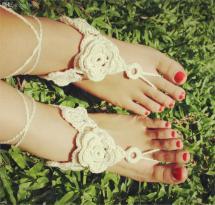 2017 2015 Barefoot Sandals Flowers Women Foot