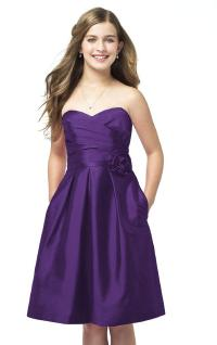 New Purple Junior Bridesmaid Dresses For Weddings For ...