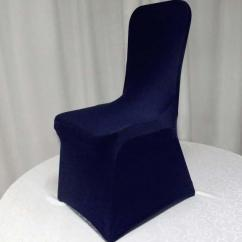 Blue Spandex Chair Covers Wrought Iron Chaise Lounge Chairs Navy Lycra Cover Flat Front Stretch For Hotel Banquet Wedding Decoration Slipcovers Couch Buy