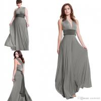 Charcoal Grey Convertible Bridesmaids Dresses 2017 A Line
