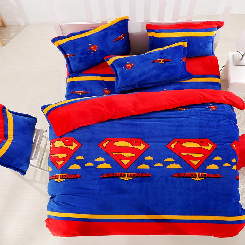 Justice League Flannel Bedding Sets Kids Adults Duvet